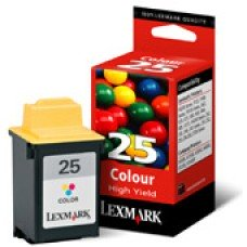 Картридж Lexmark №25 (15М0125) цветной струйный оригинальный